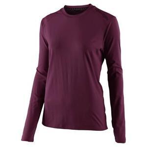 Troy-Lee-Designs-Lilium-Women-039-s-Long-Sleeve-Jersey-Solid-Deep-Fig-Medium