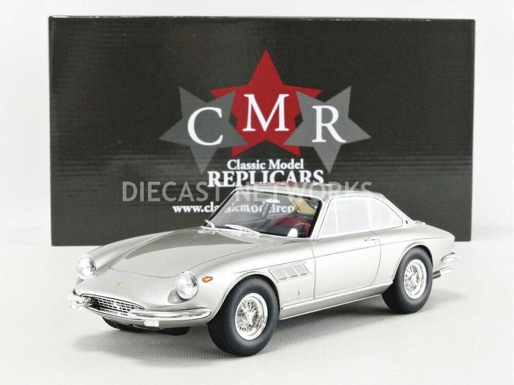 CMR 1960 Ferrari 330 GTC le falta argento metálica en escala 1 18 Nueva Versión