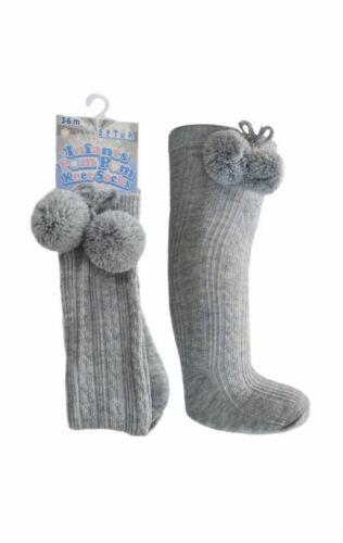 Baby boy pom pom knee high traditional Spanish romany style socks