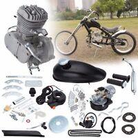 80cc 2-stroke Cycle Silver Motor Bike Muffler Motorized Engine Gas Kit Us Stock