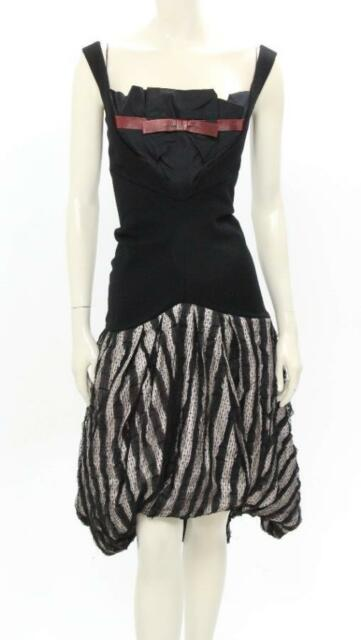 Louis Vuitton Black Lace Hem Drop Waist Dress