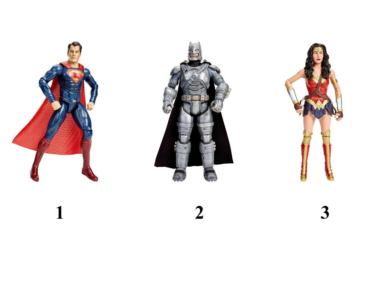 BATMAN V SUPERMAN SUPERMAN SUPERMAN PACCHETTO WONDER WOMAN,BATMAN,SUPERMAN DHY32 DC COMICS MATTEL 4a80f7