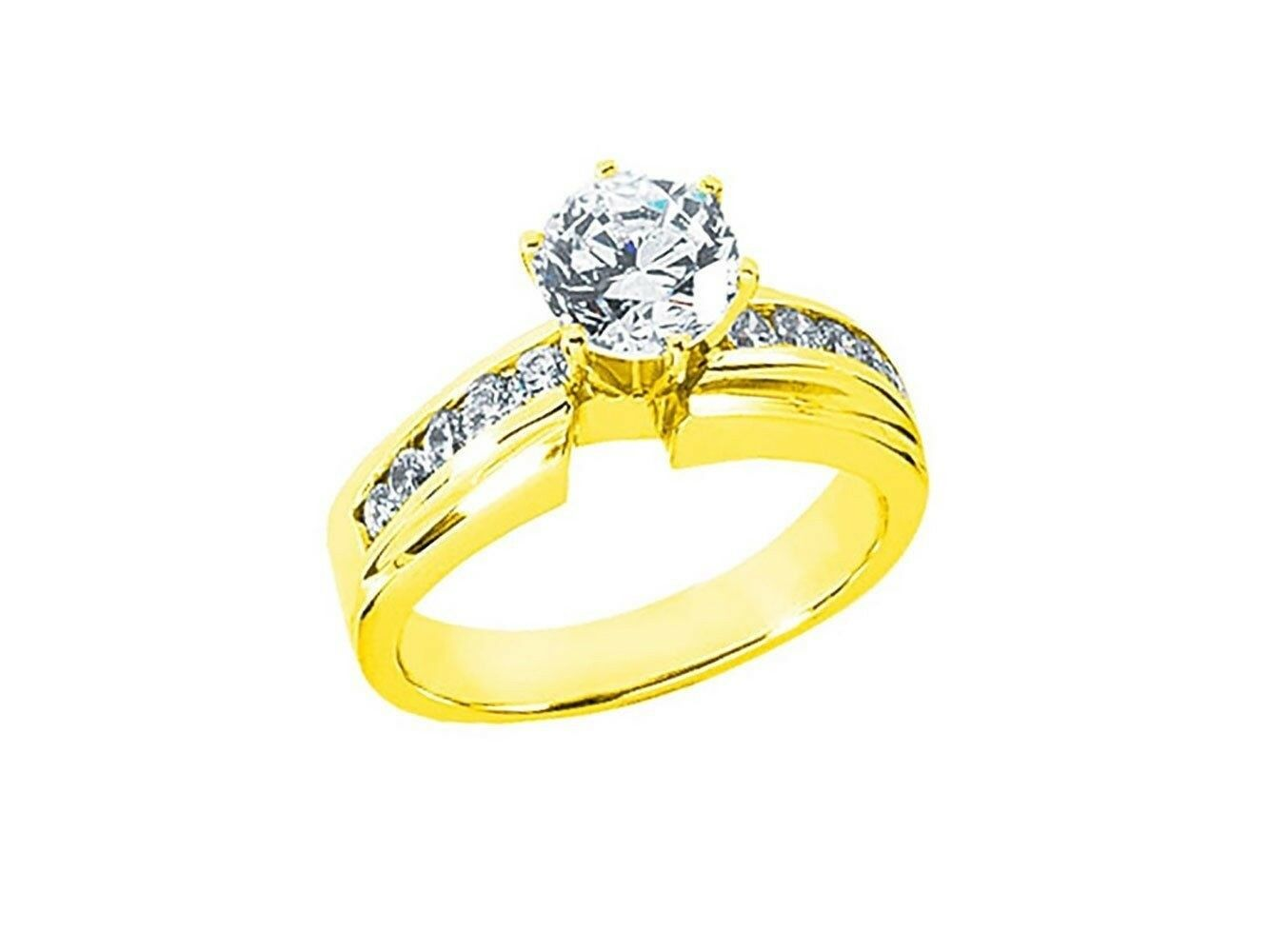 Natural 1.00Ct Round Cut Diamond Engagement Ring Solid 14kt gold IJ I1