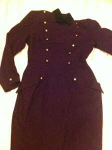 Lafdies Compaagnie 38 10 Pourpre Laine N Taille En Militaire Taille G Robe Uk xqwFYpOq
