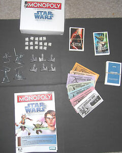 Spare/replacem<wbr/>ent pieces for STAR WARS Monopoly Clone Wars 2008 or 2005
