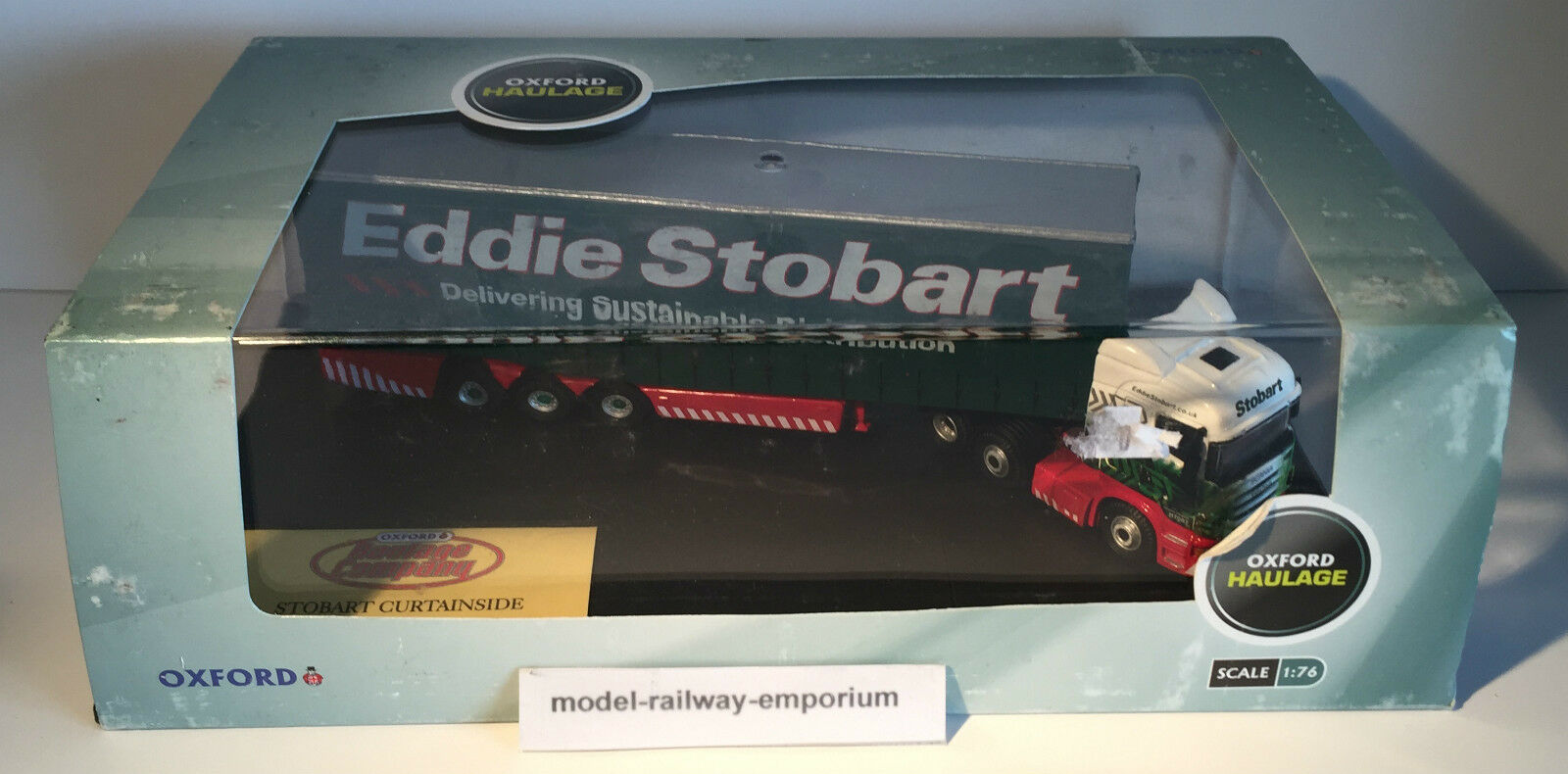 Oxford Diecast - EDDIE STOBART SCANIA HIGHLINE CURTAINSIDE (SHL01CS) - NEW BOXED