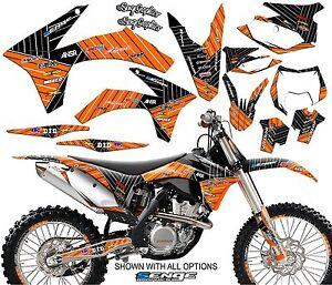 2005 2006 2007 FITS KTM EXC 300 400 450 525 GRAPHICS KIT DECO DECALS STICKERS