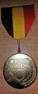 BELGIQUE-Medaille-Mutualites-chretiennes-50-ans-de-solidarite-mutualiste
