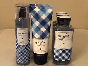 Bath-amp-Body-Works-GINGHAM-Fragrance-Mist-Body-Cream-Body-Wash-Pick-1-NEW