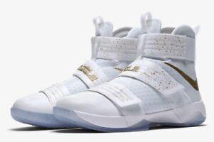 Nike LeBron Zoom Soldier 10 SFG LMTD  Unite  883333-174 White Gold ... 591234dd15b9