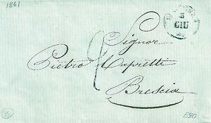 088 PREFILATELICA Piacenza 1861 tassa 2 con testo - Italia - 088 PREFILATELICA Piacenza 1861 tassa 2 con testo - Italia