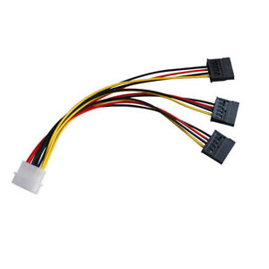 4-pin-IDE-Molex-to-3-Serial-ATA-SATA-Power-Splitter-Extension-Cable-ConnectorRHB
