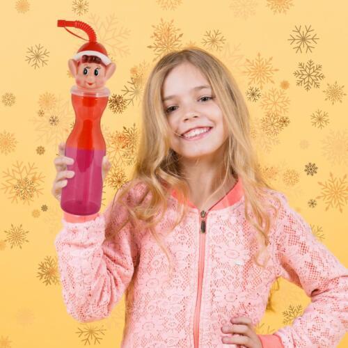 Elf Water Bottle On Red Christmas Sports Shelf The Drinks School