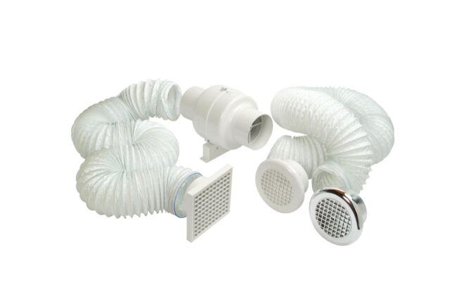 Manrose 240V 100mm Centrifugal Inline Shower Fan Kit .