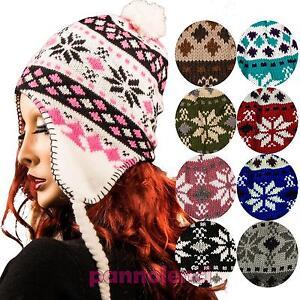 Cappello donna pon pon paraorecchie fantasia invernale cappellino ... e2908bd4a610