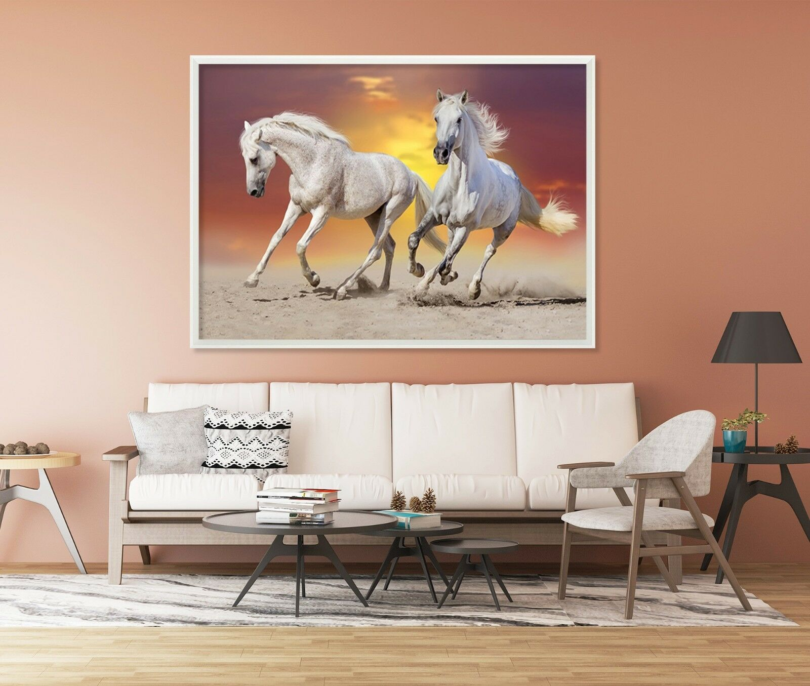 3D Horse Dusk 56 Fake Framed Poster Home Decor Print Painting Unique Art Summer