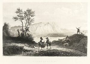 HARZ-BURGRUINE-SACHSENSTEIN-Ludwig-Richter-Stahlstich-1838