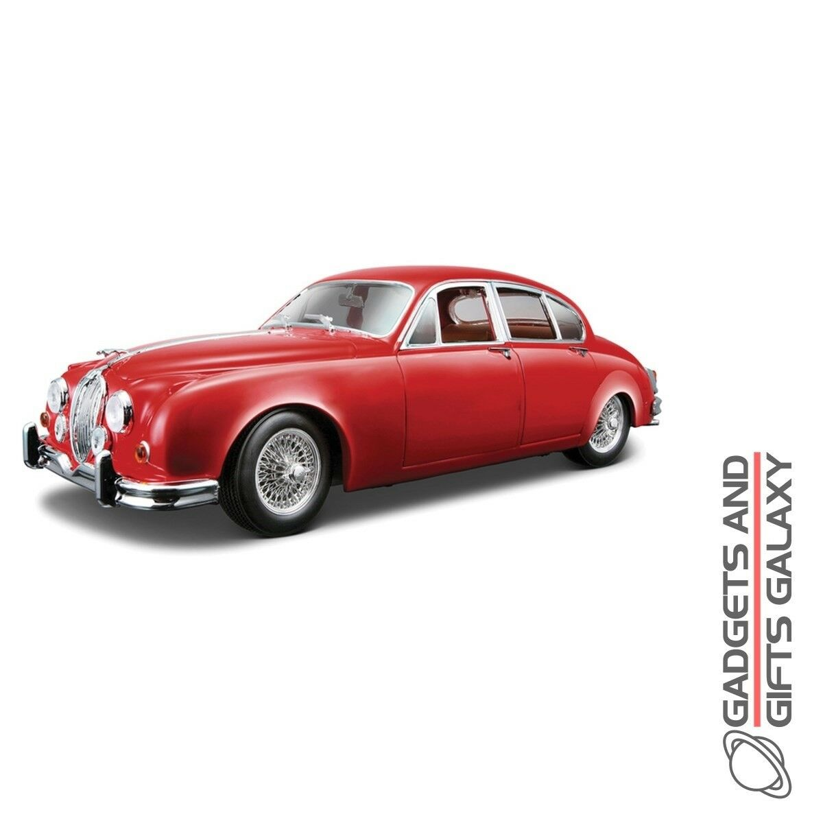 1 18 1959 Jaguar Mark ll Model Replica Car Vehicle Red Diecast Vintage Toy