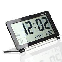 Us Folding Lcd Digital Screen Travel Desk Electronic Alarm Clock -multifunction