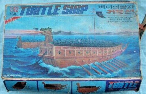 Il modellololo di plastica della tartaruga coreana 1 82 scala di prima corazzata rara ammiraglio Yi