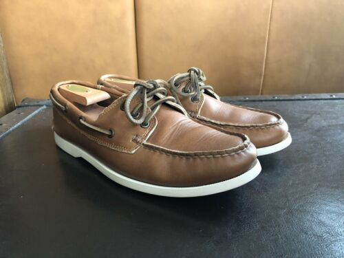 Men's Quoddy Whiskey Boat Shoes Size 9