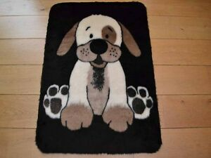 Cute puppy girls boys large small size rug fluffy soft for Cute rugs for cheap
