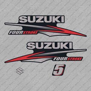 Suzuki 140HP Four Stroke Outboard Engine Decals Sticker Set reproduction White