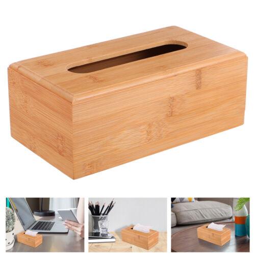 1PC boîte à mouchoirs en bois étui à serviettes naturel porte-serviettes en