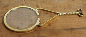 Vintage-Antique-Style-Brass-Magnifying-glass-Hand-Lens-Colonial-Magnifier