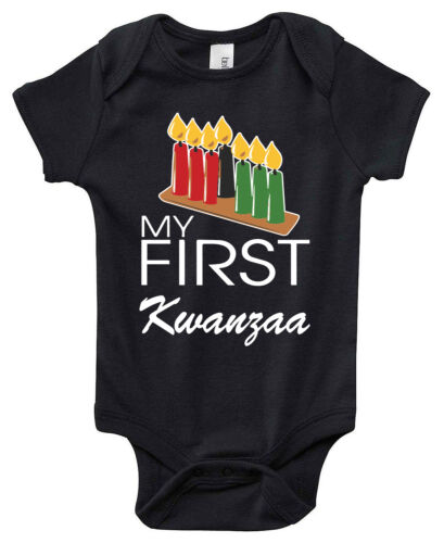 """Baby My First Kwanzaa /""""Candles/"""" One Piece Outfit Creeper"""