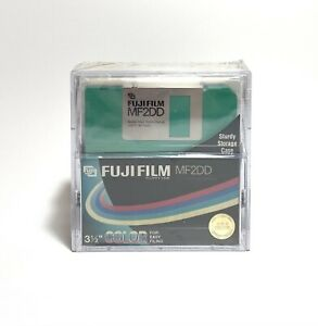 FUJIFILM MF2DD Double Sided Double Density 3 1/2 Floppy Disks 10 Pack Multicolor
