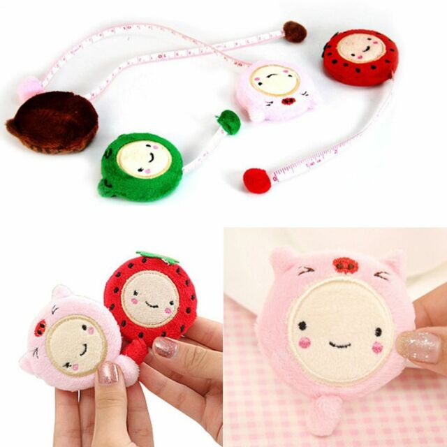 Cartoon Cute Plush Tape Sewing Tool Measure Ruler Retractable
