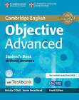 Objective Advanced Student's Book Without Answers with CD-ROM with Testbank by Felicity O'Dell, Annie Broadhead (Mixed media product, 2015)