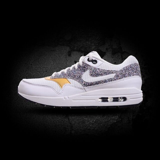 Nike Nike Nike Women's Air Max 1 SE OLYMPIC gold White Black Multicolor Grey OREO Sz 8.5 b5e511
