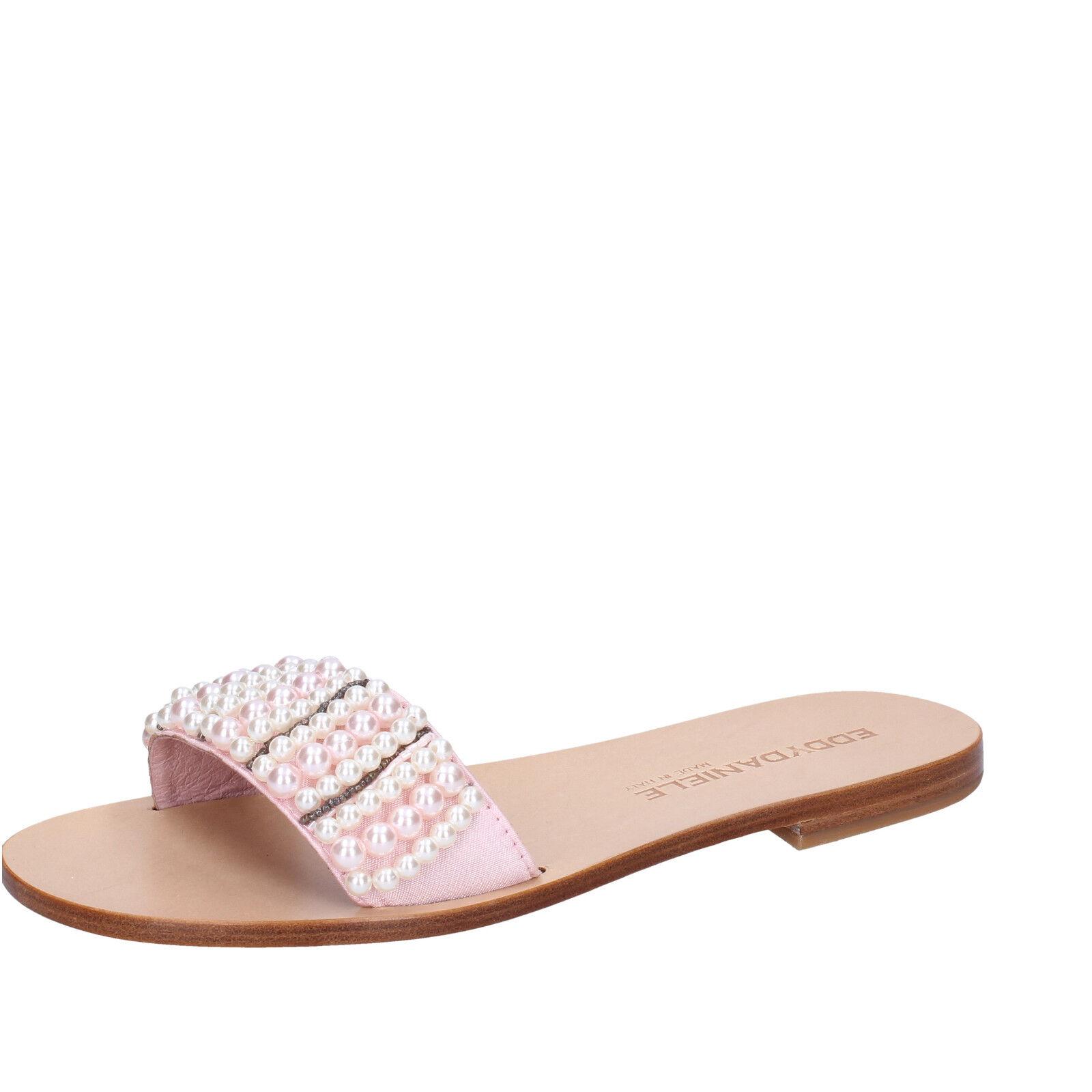 Women's shoes EDDY DANIELE 7 (EU 37) sandals pink textile AW265-37