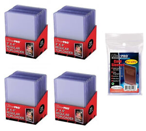 100-ULTRA-PRO-3x4-Sports-Card-Toploaders-FREE-SLEEVES-FREE-SHIPPING