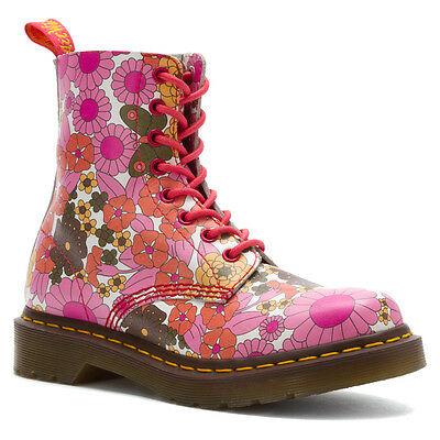 Dr. Martens  Women's 1460  Pascal Pink Daisy Floral Boots US 6 7 8 Retail $150!
