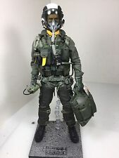 1/6 BBI ELITE FORCE US NAVY F-14/F-18 TOP GUN FIGHTER PILOT+STAND DID DRAGON RC