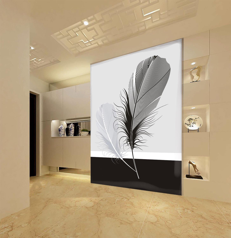 3D greye Federn 77 Tapete Wandgemälde Tapete Tapeten Bild Familie DE Summer