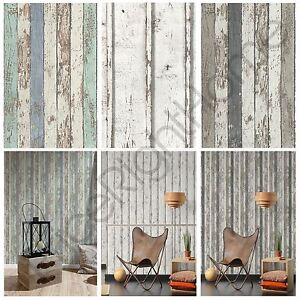 Image Is Loading AS CREATION WOOD PLANKS WALLPAPER NARROW RUSTIC WHITE