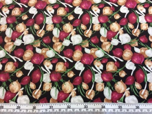 100/% Cotton Paintbush Studio Onions Farmer/'s John Mini Market