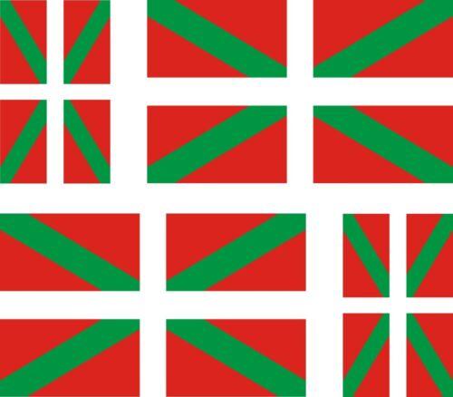 Set of 4x sticker vinyl car bumper decal outdoor flag basque euskadi pais vasco