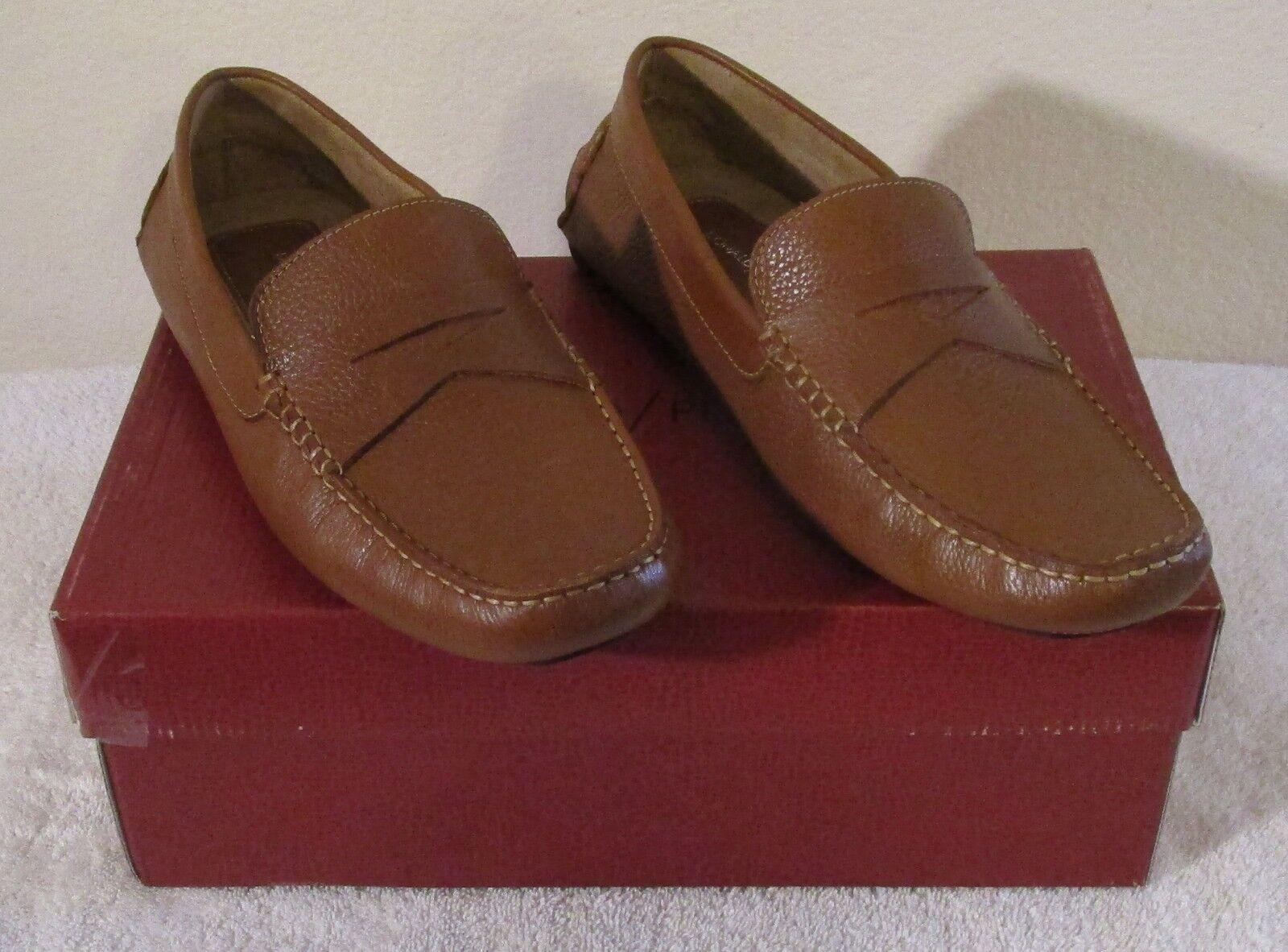 NIB Donald Pliner Alondro Uomo Penny Loafer Driving Mocs Shoes 11.5 Cognac  165