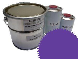 1-Litre-Set-2K-Peinture-Voiture-Ral-4005-Bleu-Lilas-Acrylique-Brillant-lackpoint