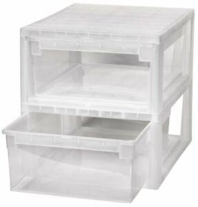 2-x-Schubladenbox-Schublade-Aufbewahrungsbox-Kleiderbox-Kommode-Unterbettbox-M