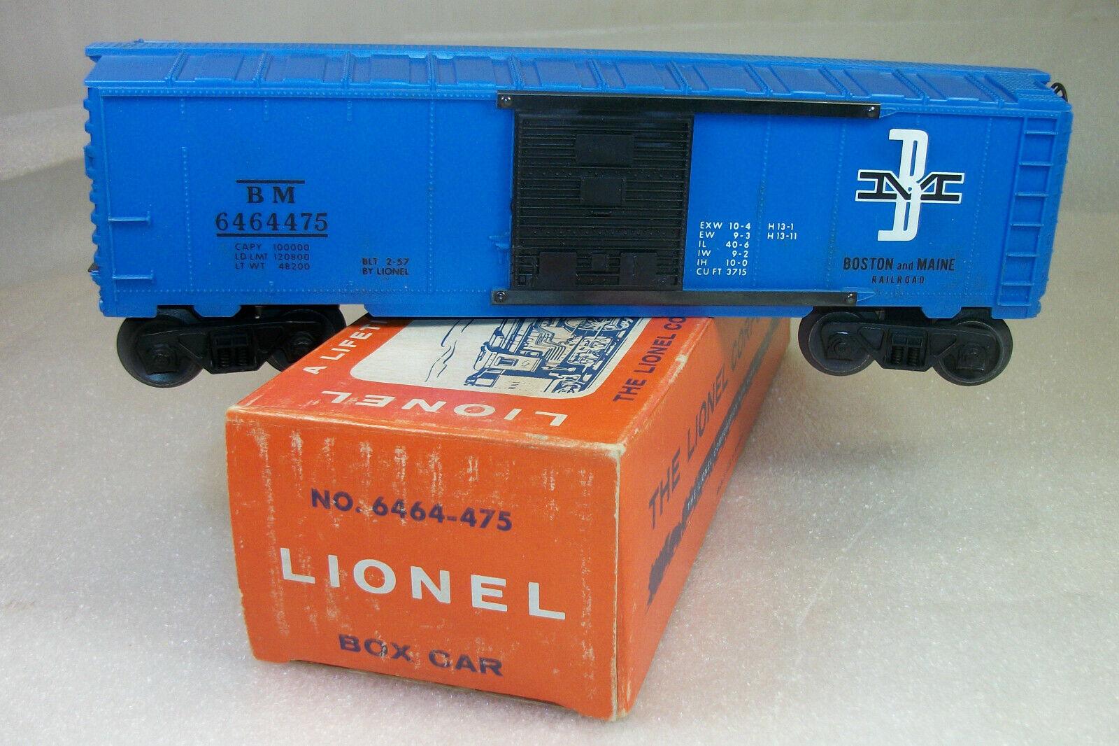 Lionel del dopo guerra 6464475 boston & maine tipo IV scatola Auto Nuovo di zecca OB  repro scatola extra