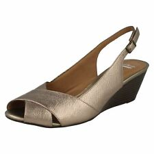 a5b9f29a049a item 4 LADIES CLARKS BRIELLE KAE BUCKLE PEEP TOE WEDGE SLING BACK SMART  LEATHER SANDALS -LADIES CLARKS BRIELLE KAE BUCKLE PEEP TOE WEDGE SLING BACK  SMART ...