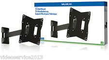 """SUPPORTO x TV LCD/LED fino 42"""" DA PARETE max 30kg NERO ATTACCO VESA 400x400 MAX"""