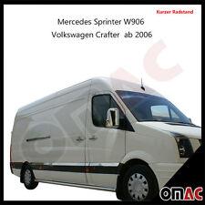 Sprinter W906 / Crafter 2006> Chrom Seiten Türleisten Edelstahl Kurzer Radstand