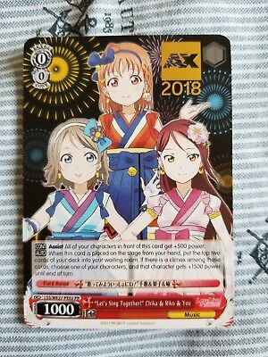 Anime Expo 2018 Bang Comic Dream and Weiss Schwarz card promo Arisa Ichigaya